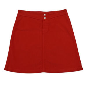 Fresh Produce A-Line Corduroy Skirt Red Sz S